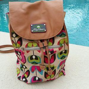 Lily Bloom Colorful ECO Friendly Backpack Handbag